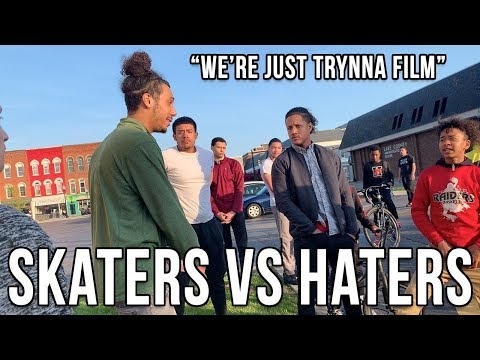 SKATERS VS HATERS 6!!!   Kid Calls Older Brother To Beat Up Skaters