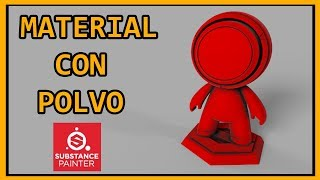 SUBSTANCE PAINTER | Material con polvo. Generator light