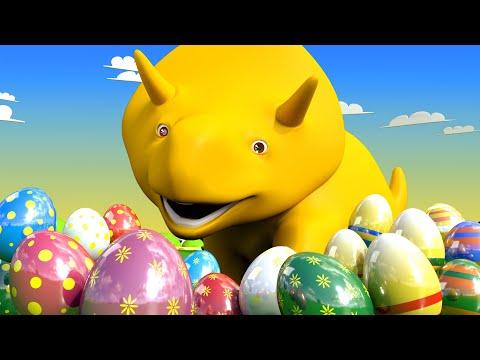 Wielkanoc Nauka Kolorów i Liczb ucz się z Dino dinozaurem Bajki Edukacyjne dla Dzieci