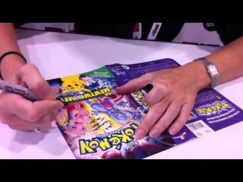 Veronica Taylor signing Pokemon the First Movie!