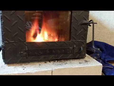 DIY wood burning stove - secondary burn working well