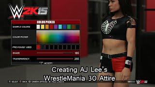 WWE 2K15 (PS4) خلق AJ لي ريسلمانيا 30 الملابس