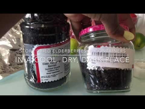 How to make Elderberry syrup   Sambucus Nigra, Sambucol