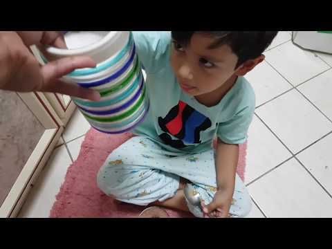 Cold Coffee Recipe by 4 year old boy Aahan Sharma || Mamta Sachdeva Son Making Coffee ||