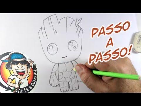 Como Desenhar Groot Kawaii Passo A Passo Youtube