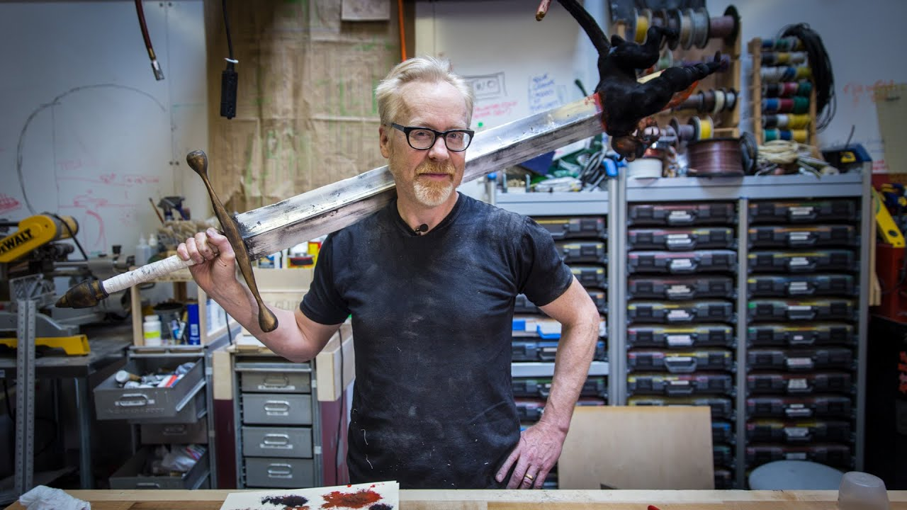 Adam Savage S One Day Builds Hellboy Sword Youtube