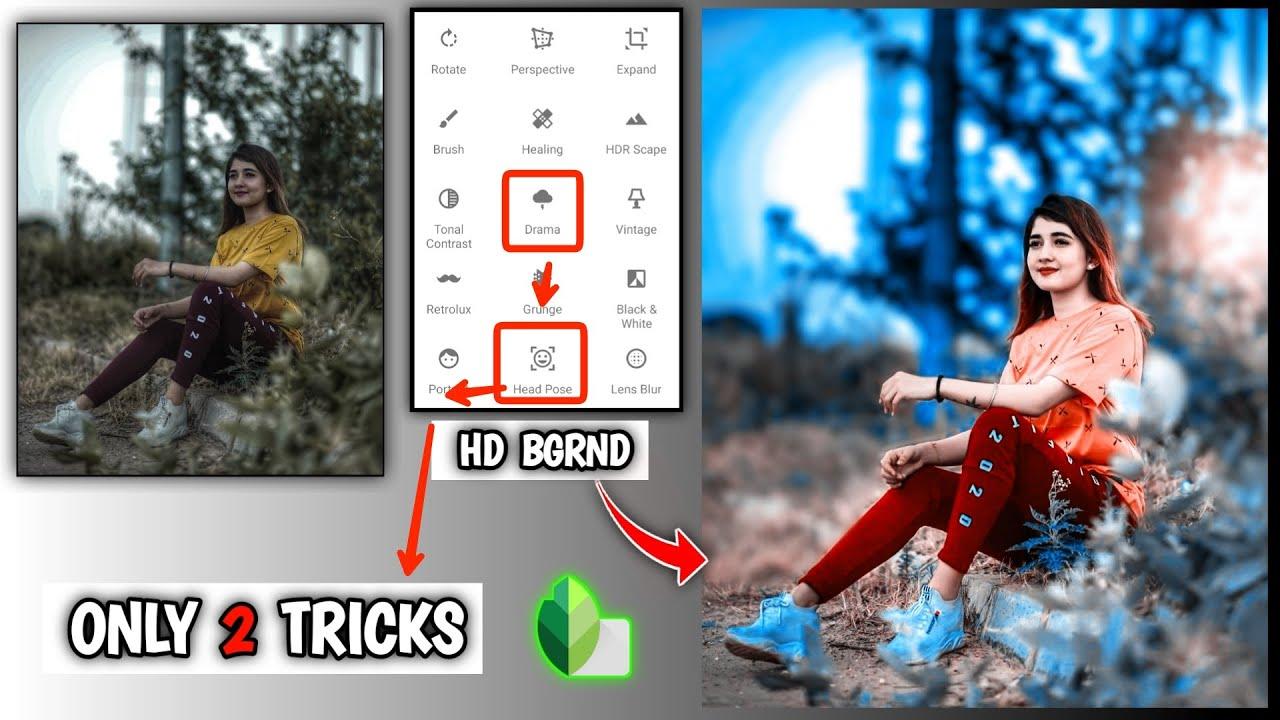 Snapseed New Photo Editing Tricks 🔥 September   Snapseed HDBlue Tone Photo Editing Tricks   Best App