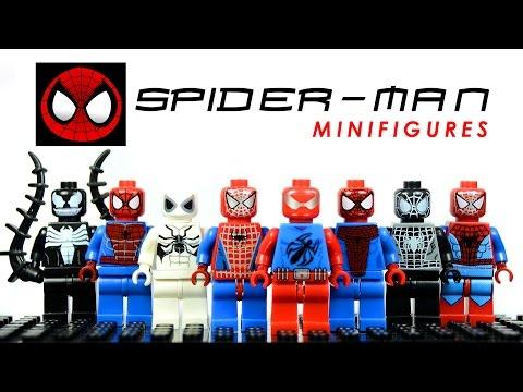 LEGO The Amazing Spider-Man KnockOff Minifigures Set 2 w/ Scarlet Spider & Venom