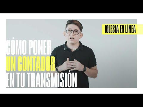 Cómo poner un contador en tu transmisión | IGLESIA EN LÍNEA | DIRECTOR CREATIVO