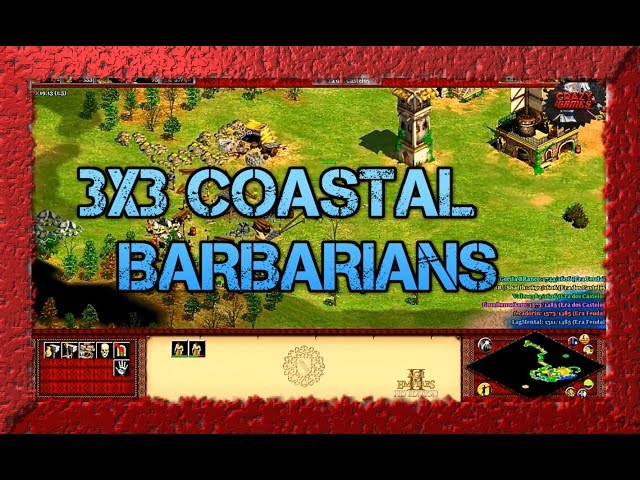 Age of Empires 2 HD 3x3 Continental Barbarians AoE2HD Gameplay PT BR