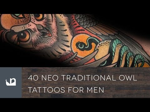 40 Neo Traditional Owl Tattoos For Men
