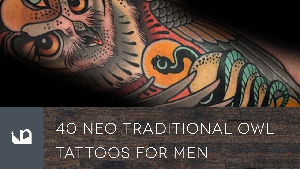 1ae21a9b1 40 Neo Traditional Owl Tattoos For Men - YouTube