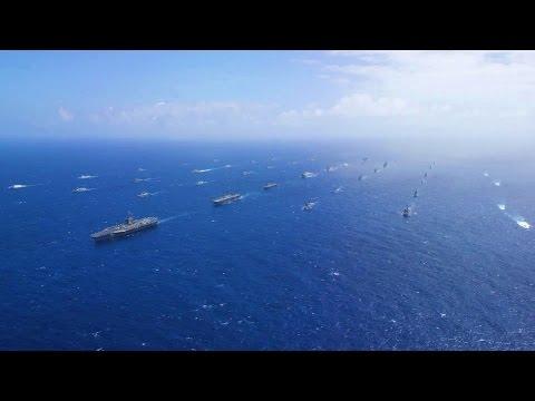 US Navy - 40 Ships & Submarines Mass Formation Cruise At RIMPAC 2016 [1080p]