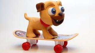 Skate puppy 💕Superhero Play Doh Stop motion cartoons