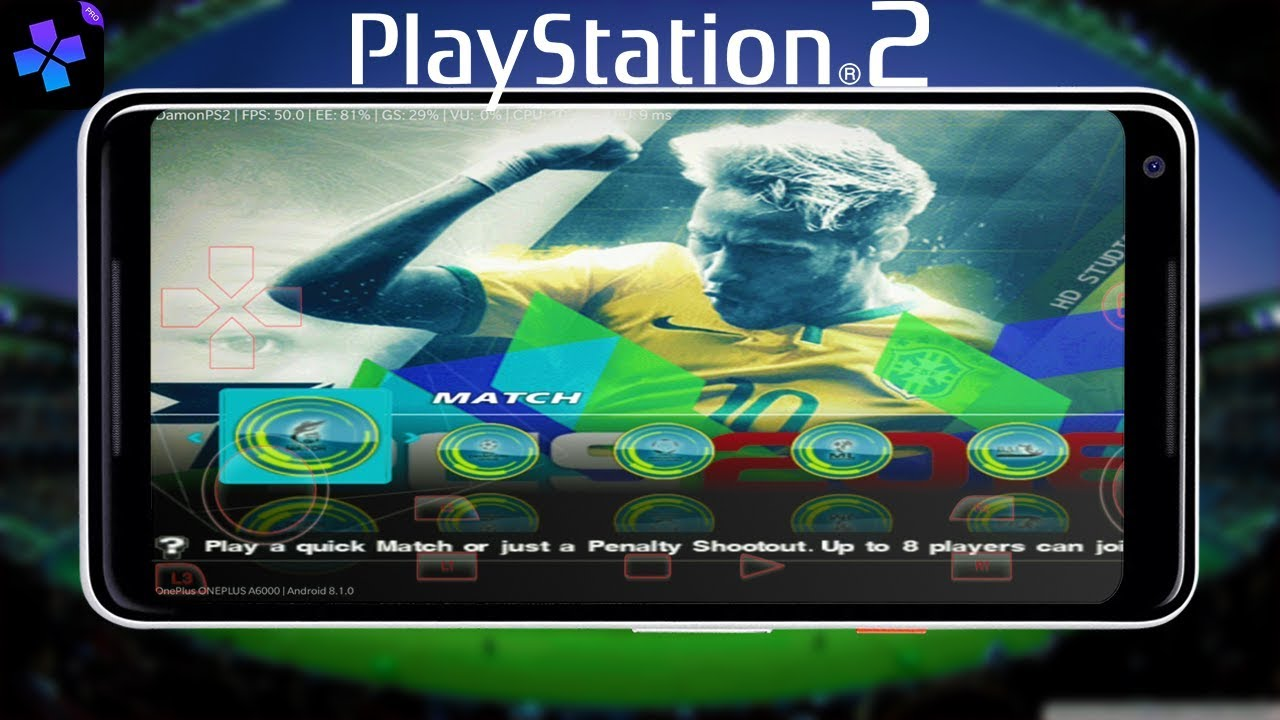 PES 2018 | PLAYSTATION 2 | ANDROID | EMULATOR | DAMON PS2 | DOWNLOAD