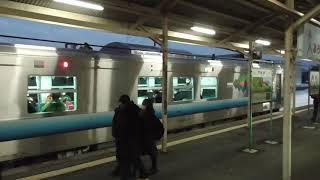 JR板柳駅 五能線 弘前行き到着【GV-E400系・2835D】 2021.01.22