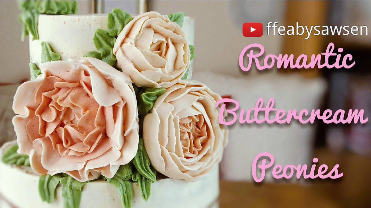 Buttercream Peonies Romantic Ruffled Flowers Roses Peony Buds