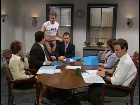 SNL - will ferrel - business meeting