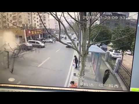 restaurant explode near street in Qingdao China, March 29 2018