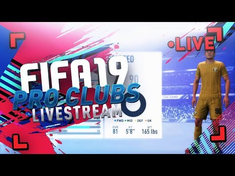 FIFA 19 LIVESTREAM | PLAYING PRO CLUBS - FIRST LOOK!! ( NEW SHOOTING TIPS ) thumbnail