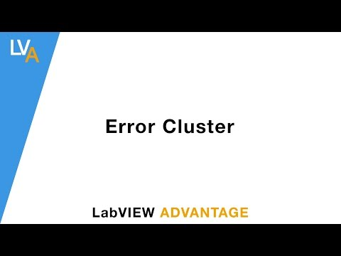 How to use Error Cluster - LabVIEW