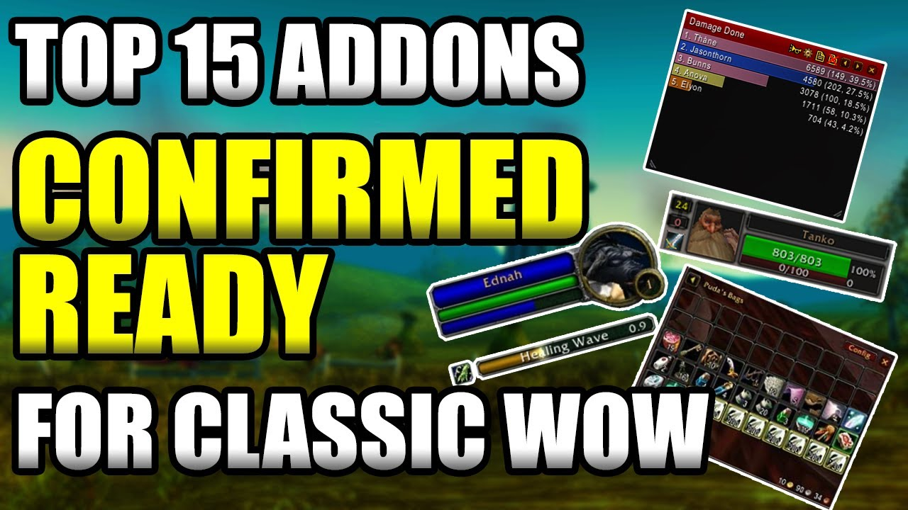 Are classic add ons ready to download - WoW Classic General