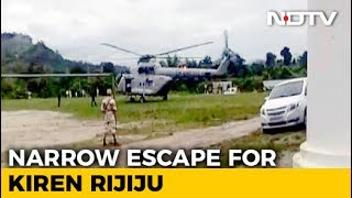 Minister Kiren Rijiju Safe After Chopper Makes Emergency Landing