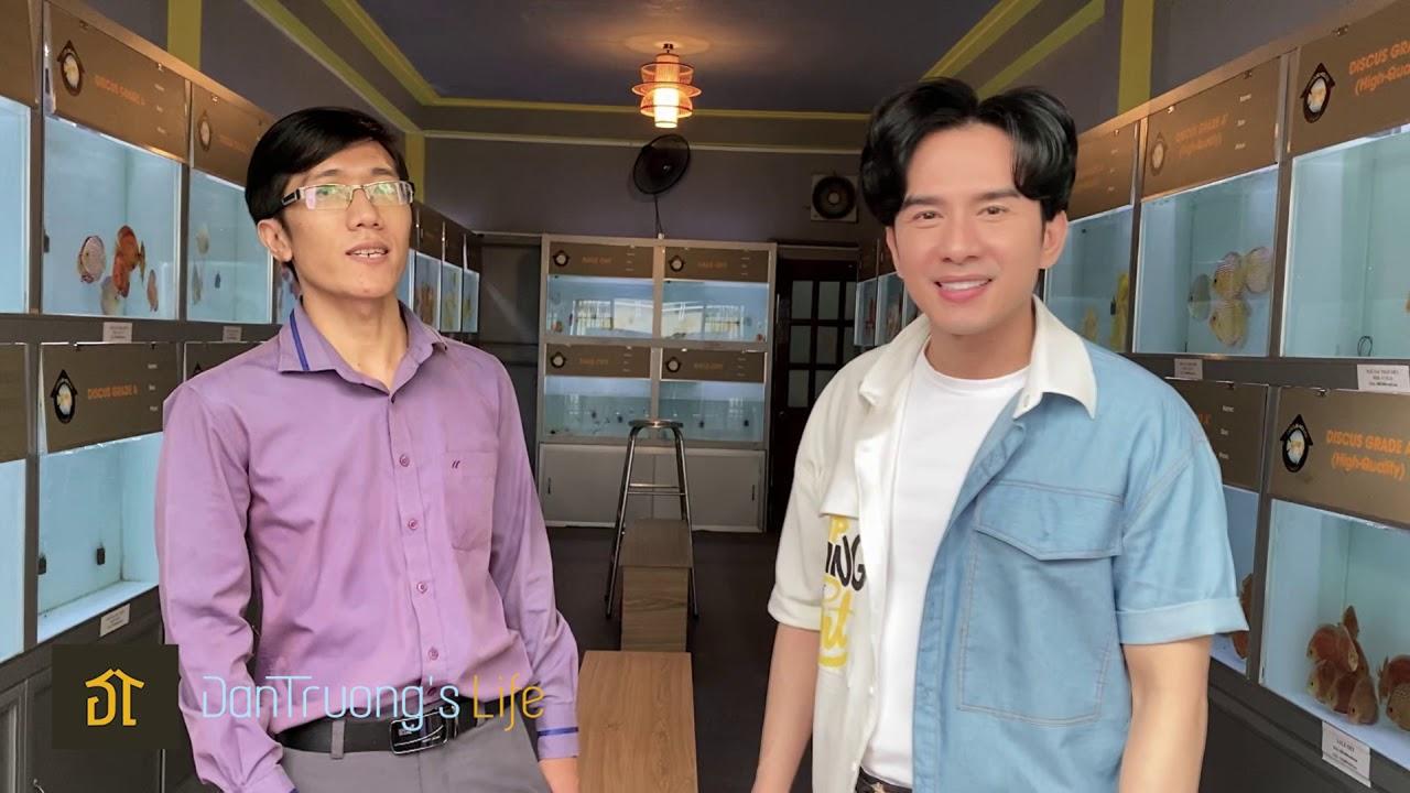 Đan Trường tham quan Shop cá Dĩa đẹp nhất Việt Nam