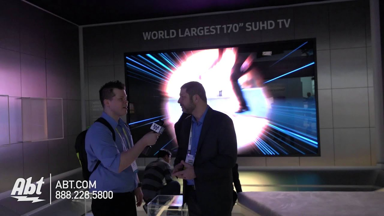 Samsung With The Worlds Largest SUHDTV Abt CES YouTube - Abt samsung tv