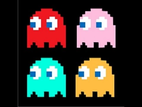 PACMAN GHOST PIXEL ART TUTORIAL| MINECRAFT PS4 - YouTube  PACMAN GHOST PI...