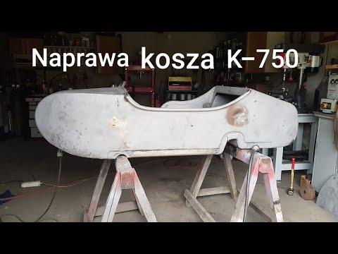 Naprawa kosza wózka bocznego motocykla K-750 cz.1 KMZ Ural Dniepr M72 M-72
