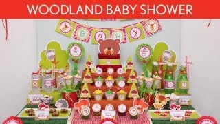 Woodland Baby Shower Party Ideas // Woodland - S13