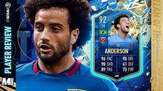 TOTS FELIPE ANDERSON PLAYER REVIEW | 92 TOTS FELIPE ANDERSON REVIEW