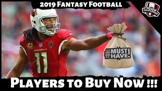 2019 Fantasy Football Rankings - 5 Must Own Players Before Week 1 - Draft Day or Trade Strategy