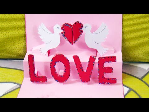 How to make a 3D Valentine's Day Card? DIY