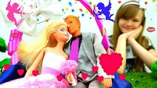 Свадьба. Барби выходит замуж. Торт из ПлейДо
