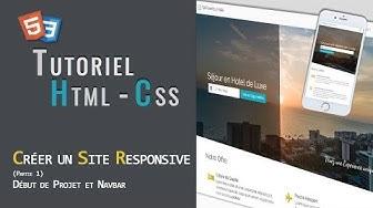 Html - Css | Créer un site One Page Responsive (Partie 1)