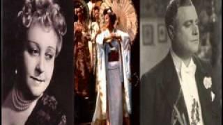 """TOTI  DAL  MONTE & BENIAMINO GIGLI. """" Viene la sera """"  Duetto storico 1 atto ( Butterfly ) Puccini"""