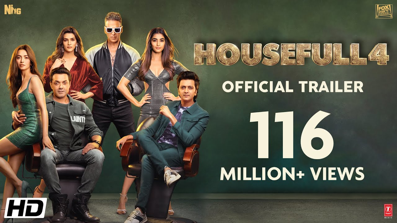 Download Housefull 4 |Official Trailer|Akshay|Riteish|Bobby|Kriti S|Pooja|Kriti K|Sajid N|Farhad| Oct 25