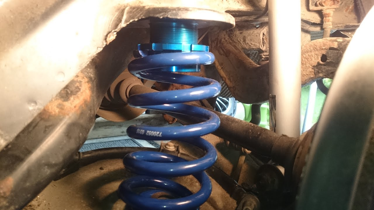 Audi A4 Jom Blueline Coilovers Install Youtube