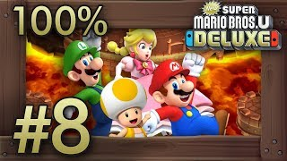 New Super Mario Bros. U Deluxe: 100% Walkthrough (4 Players) - World 8 - All Star Coins