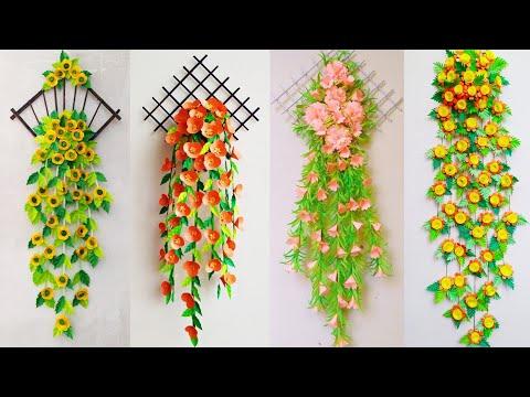 wallmate/paper-wallmate/paper-wall-hangings/wall-hanging-craft-ideas/paper-flower-wall-hanging-#136