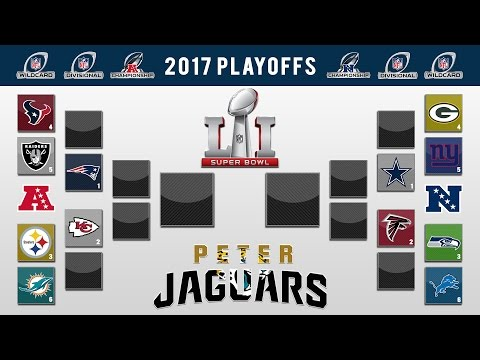 PETERJAGUARS' 2017 NFL PLAYOFF PREDICTIONS! FULL BRACKET + Super Bowl 51 Winner and All Games