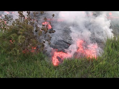 Hawaii Island Puna lava flow close up ( 10-24-2014)