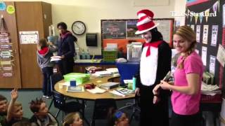 Dr. Seuss Day at Pine Hill School featured several guest readers, deviled green eggs and ham, and Pr
