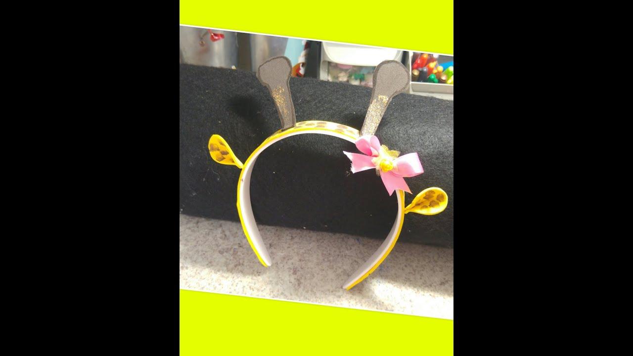 Diy como hacer diadema de jirafita youtube - Material para hacer diademas ...