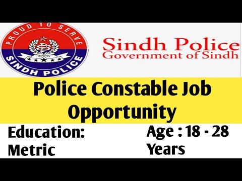 JOB OPPORTUNITIES FOR THE POST OF POLICE CONSTABLE (BPS-5) IN KARACHI RANGE JOBS 2020
