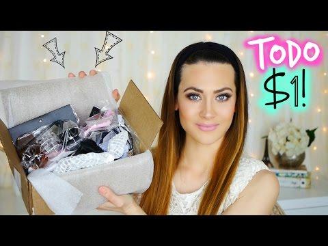 HAUL PRODUCTOS TODO a $1!! Accesorios y Maquillaje Online | Lizy P