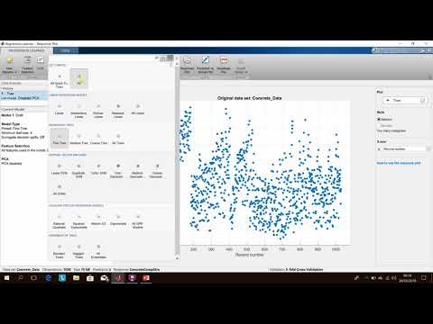 Regression Learner App in Matlab (machine learning) with