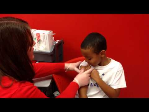 Jayden Getting His Flu Shot @Target - So Brave! 2013/2014 Flu Season